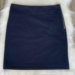 Banana Republic Navy Blue Size Zipper Skirt Size 2